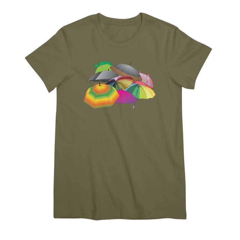 Brollies Women's Premium T-Shirt by Half Moon Giraffe