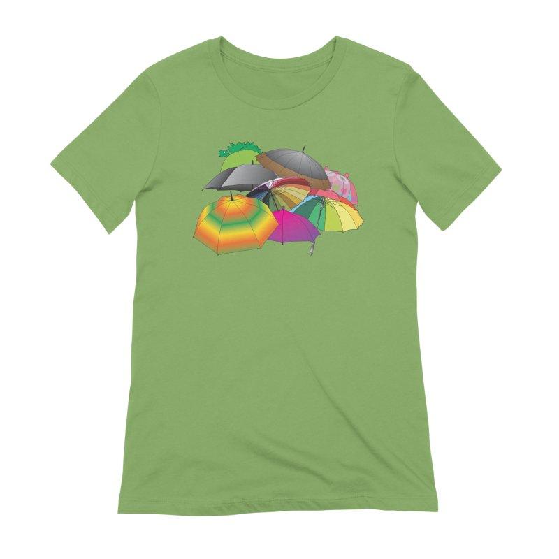 Brollies Women's Extra Soft T-Shirt by Half Moon Giraffe