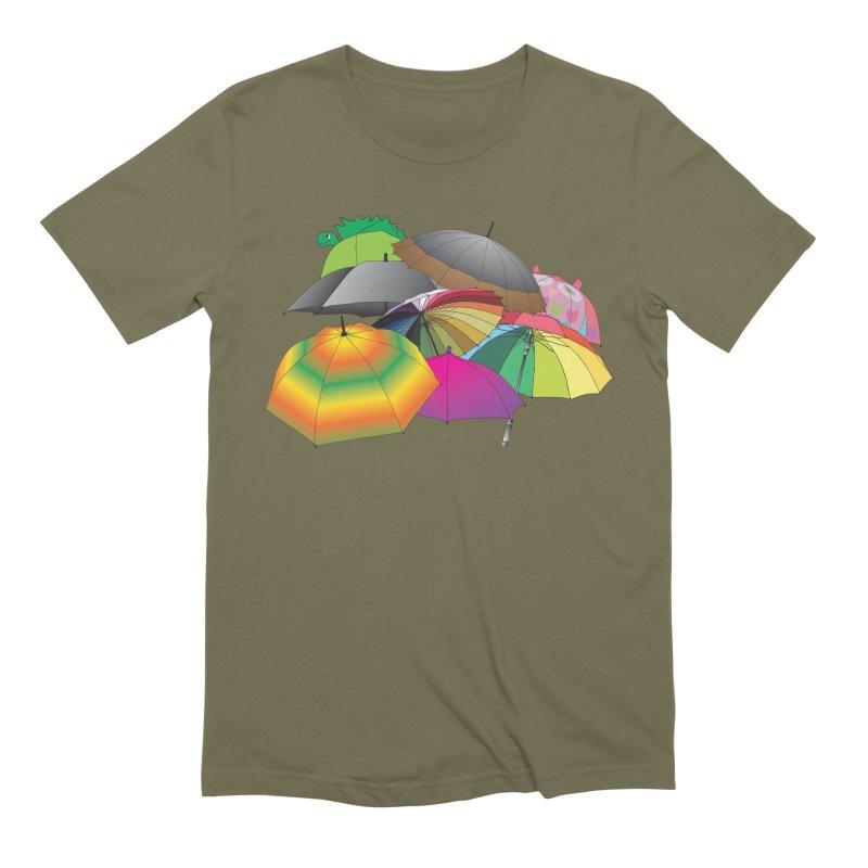Brollies Men's Extra Soft T-Shirt by Half Moon Giraffe