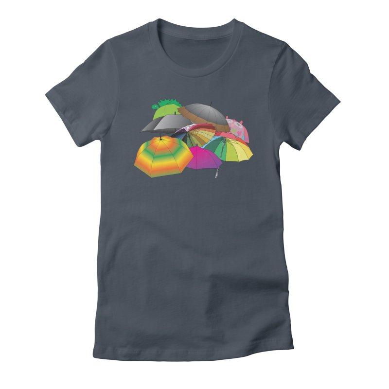 Brollies Women's T-Shirt by Half Moon Giraffe