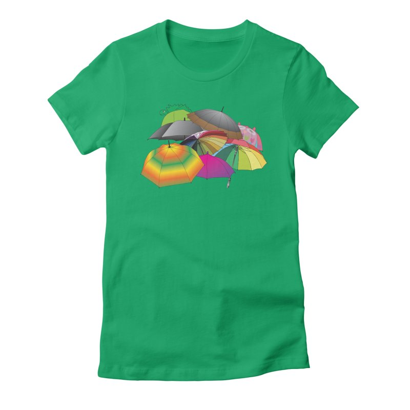 Brollies Women's Fitted T-Shirt by Half Moon Giraffe