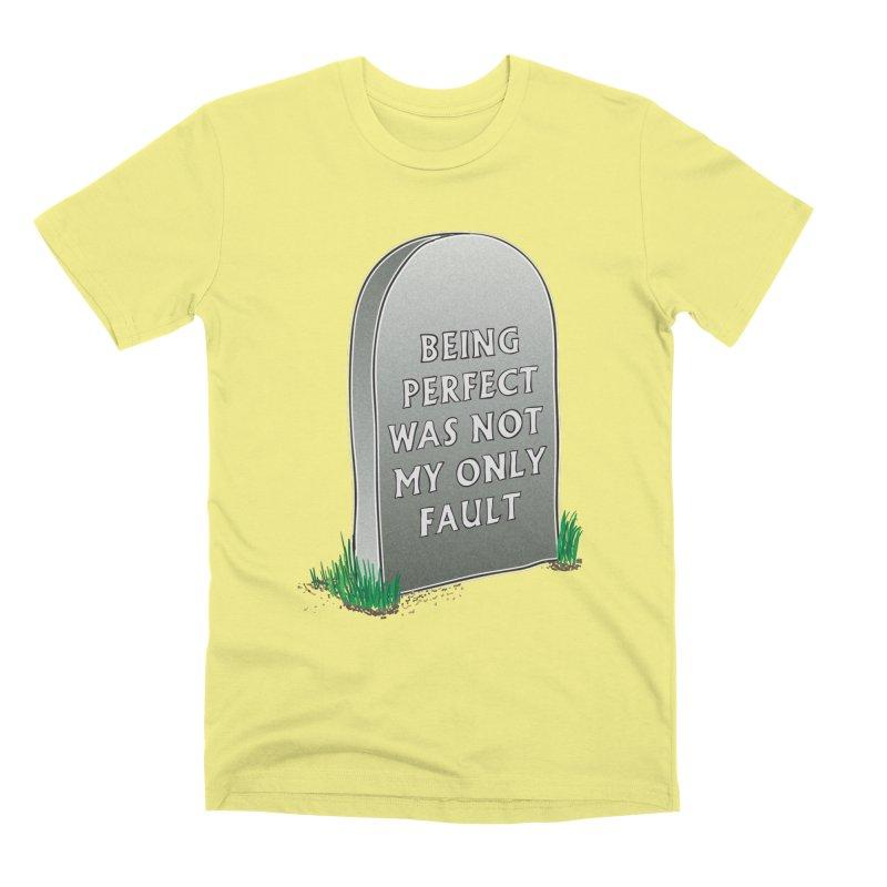 Rest in Perfection Men's Premium T-Shirt by Half Moon Giraffe