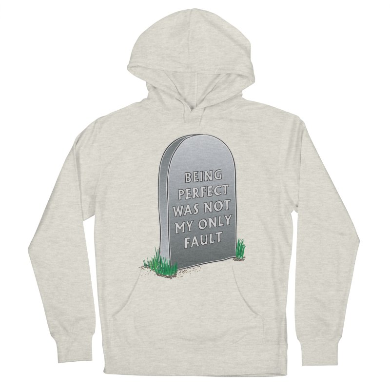 Rest in Perfection Men's French Terry Pullover Hoody by Half Moon Giraffe
