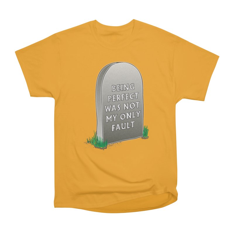 Rest in Perfection Men's Heavyweight T-Shirt by Half Moon Giraffe