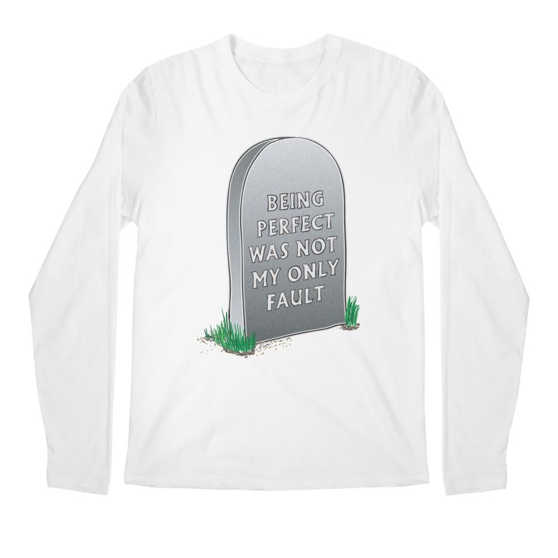 Rest in Perfection Men's Regular Longsleeve T-Shirt by Half Moon Giraffe