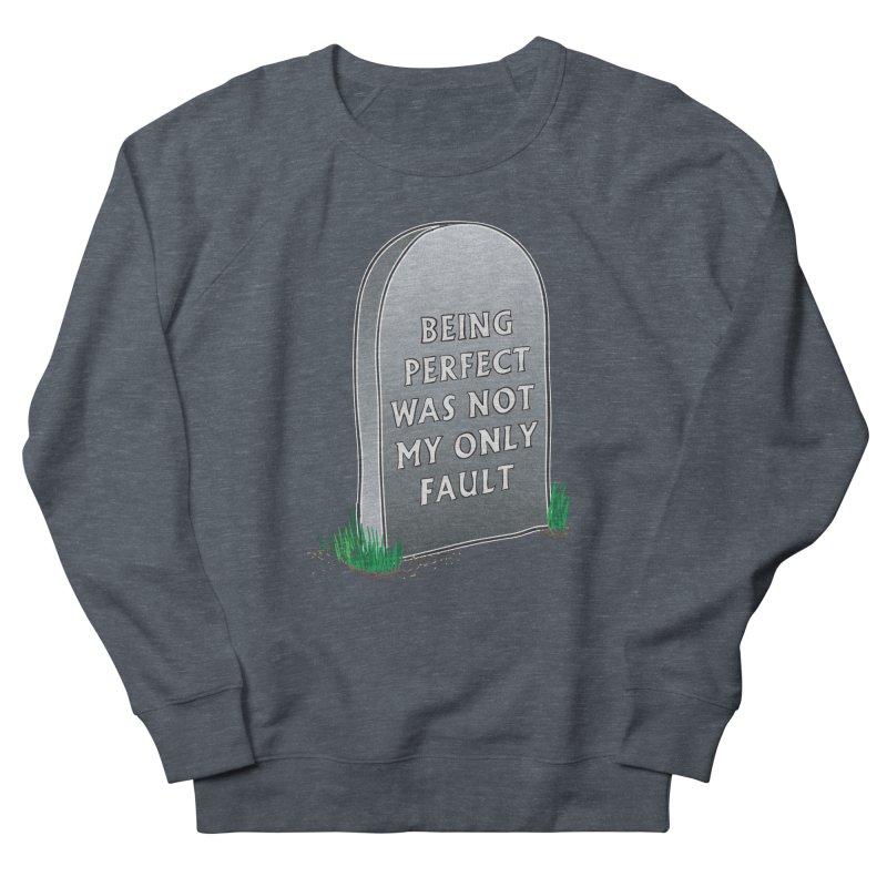 Rest in Perfection Men's French Terry Sweatshirt by Half Moon Giraffe