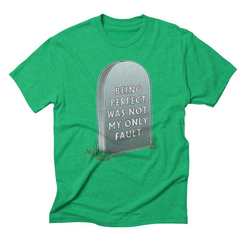 Rest in Perfection Men's Triblend T-Shirt by Half Moon Giraffe