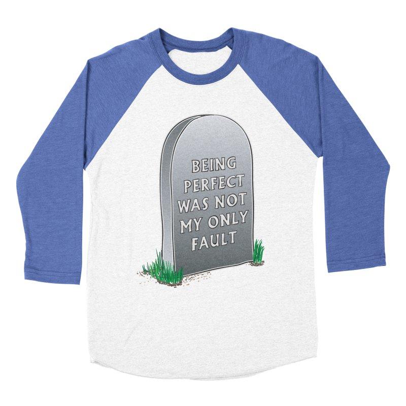 Rest in Perfection Women's Baseball Triblend Longsleeve T-Shirt by Half Moon Giraffe