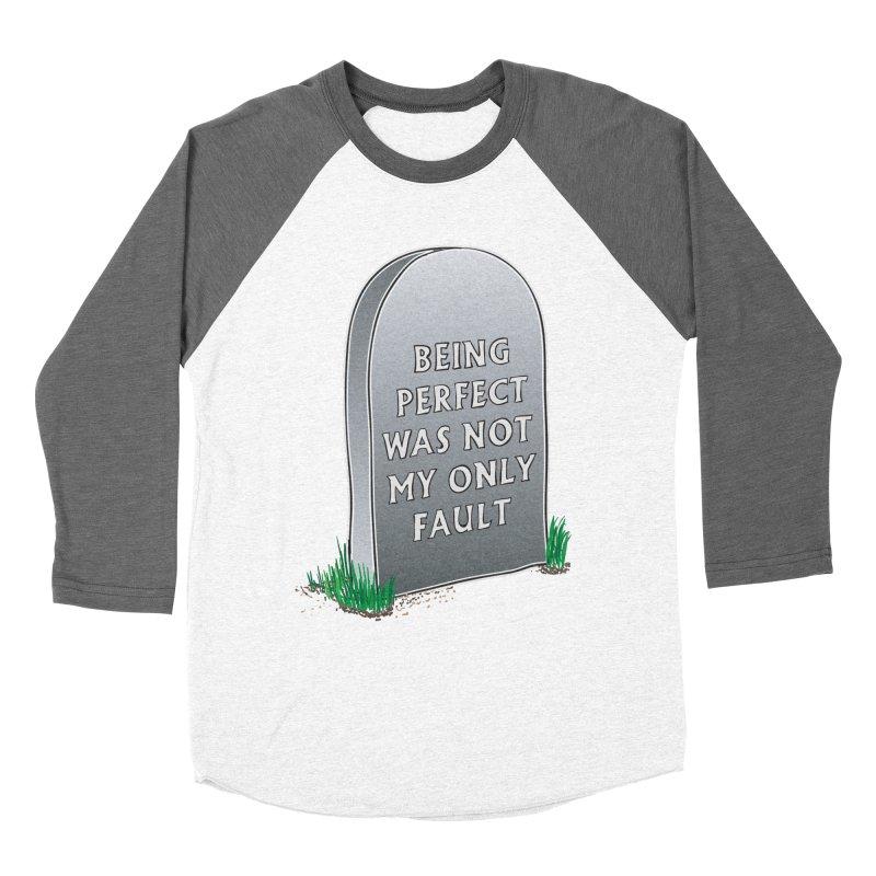 Rest in Perfection Men's Baseball Triblend Longsleeve T-Shirt by Half Moon Giraffe