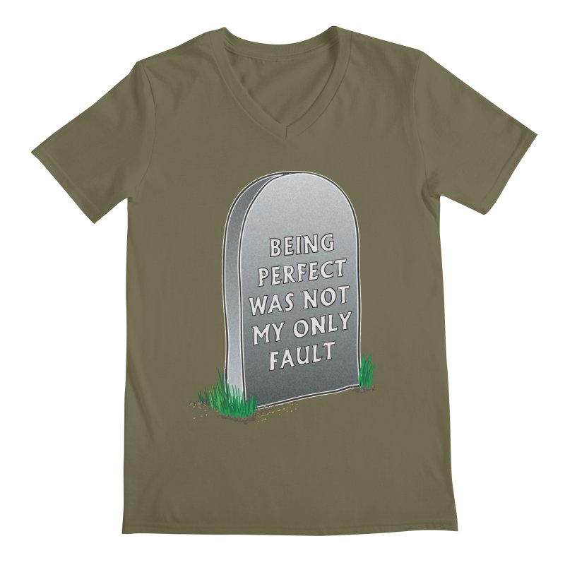 Rest in Perfection Men's Regular V-Neck by Half Moon Giraffe