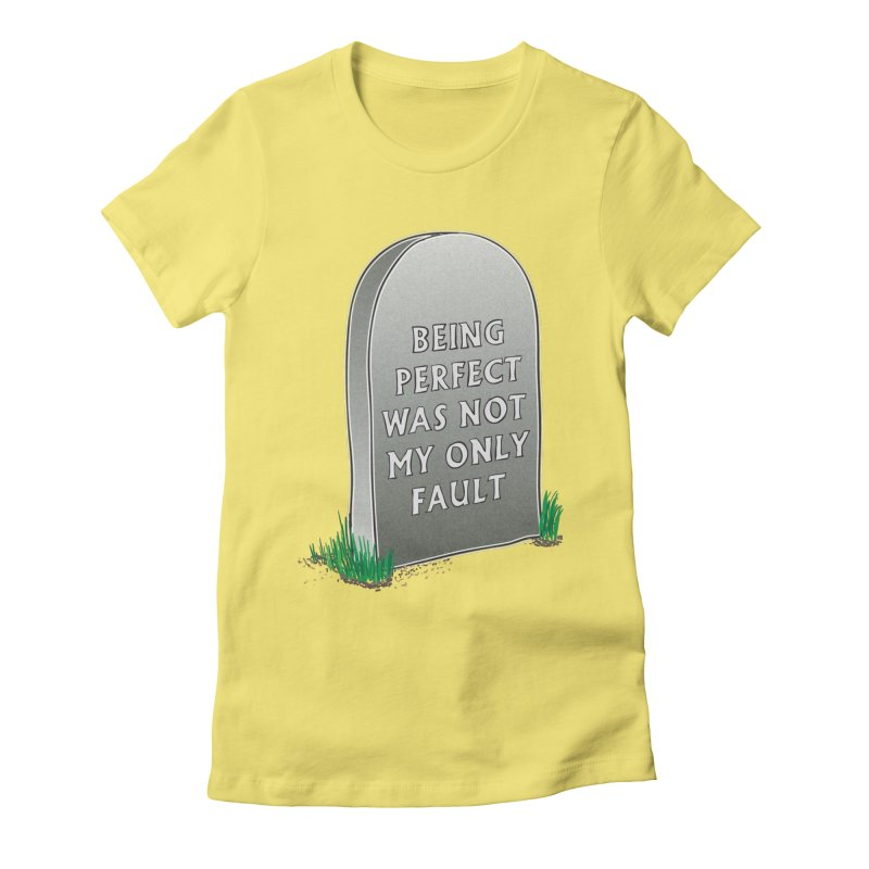 Rest in Perfection Women's Fitted T-Shirt by Half Moon Giraffe