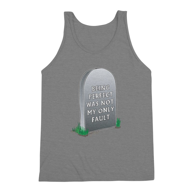 Rest in Perfection Men's Triblend Tank by Half Moon Giraffe