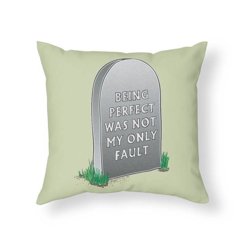 Rest in Perfection Home Throw Pillow by Half Moon Giraffe
