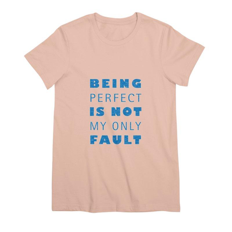 Over the Top Women's Premium T-Shirt by Half Moon Giraffe