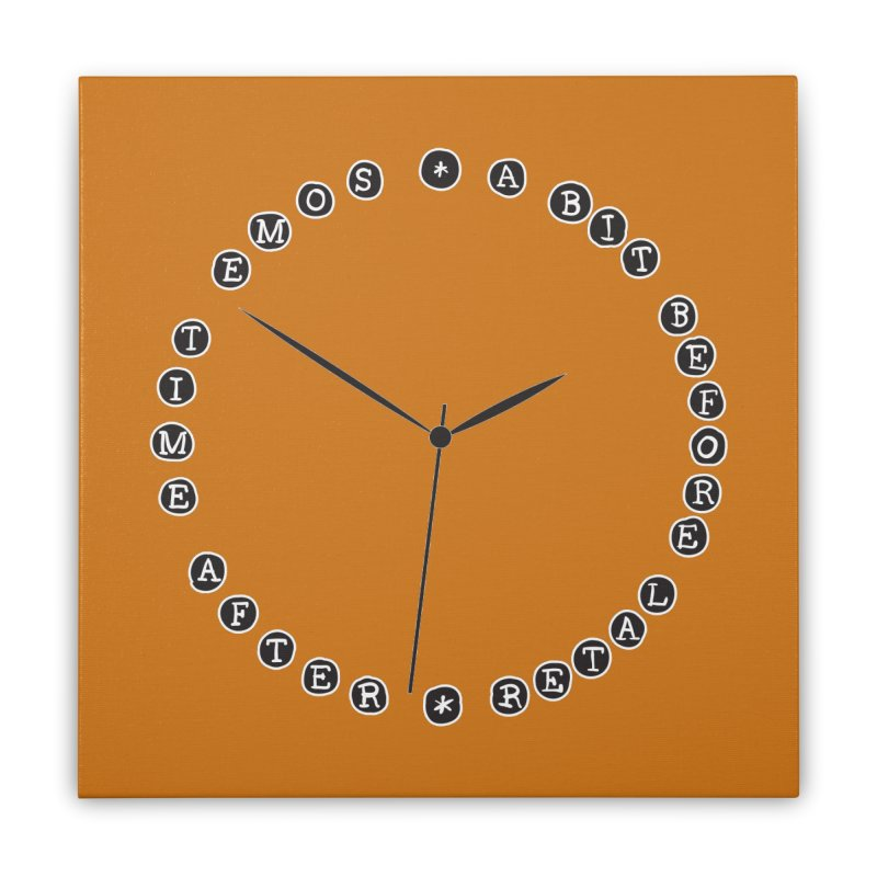 Do You Have The Time? Home Stretched Canvas by Half Moon Giraffe