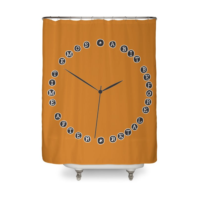 Do You Have The Time? Home Shower Curtain by Half Moon Giraffe
