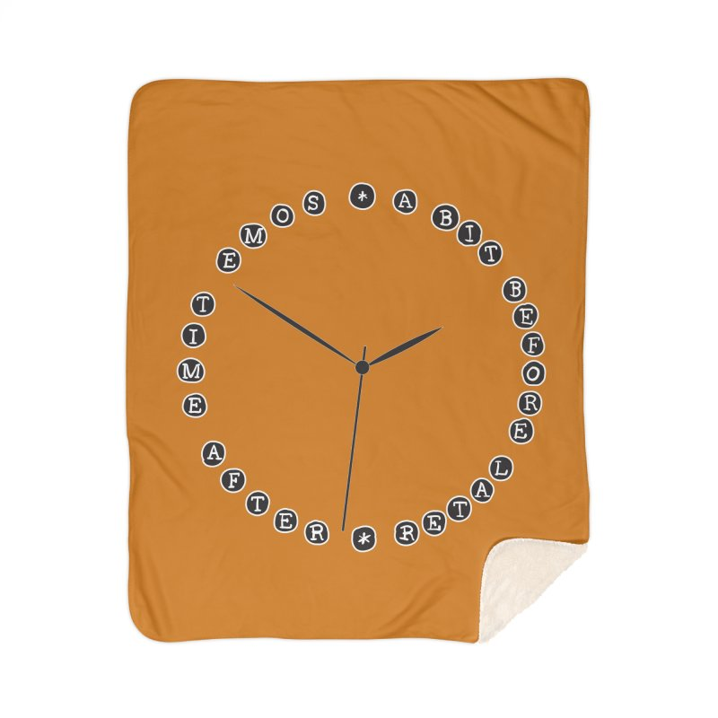 Do You Have The Time? Home Sherpa Blanket Blanket by Half Moon Giraffe