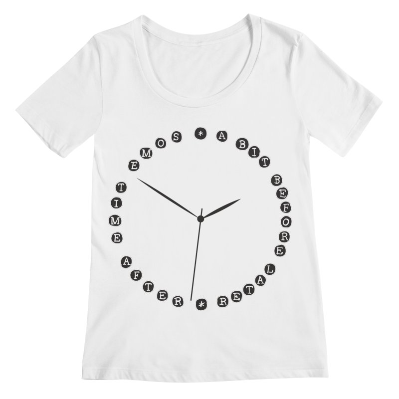 Do You Have The Time? Women's Regular Scoop Neck by Half Moon Giraffe