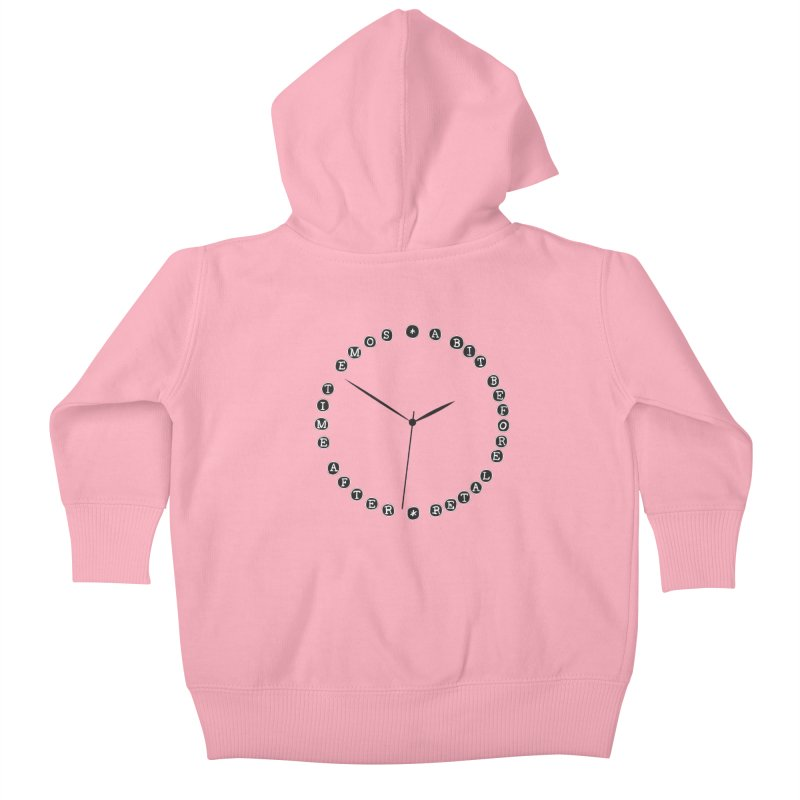 Do You Have The Time? Kids Baby Zip-Up Hoody by Half Moon Giraffe