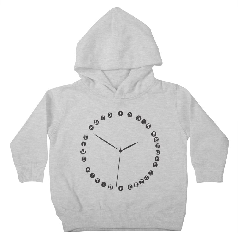 Do You Have The Time? Kids Toddler Pullover Hoody by Half Moon Giraffe