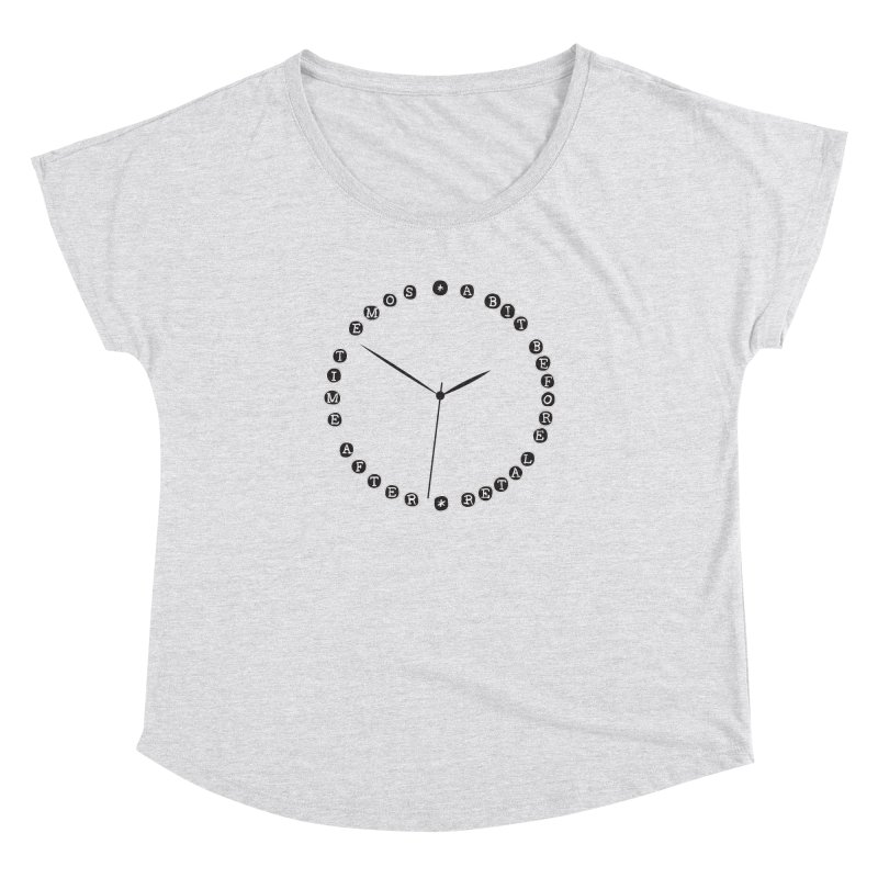 Do You Have The Time? Women's Dolman Scoop Neck by Half Moon Giraffe