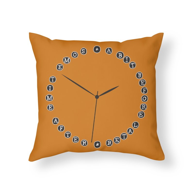 Do You Have The Time? Home Throw Pillow by Half Moon Giraffe