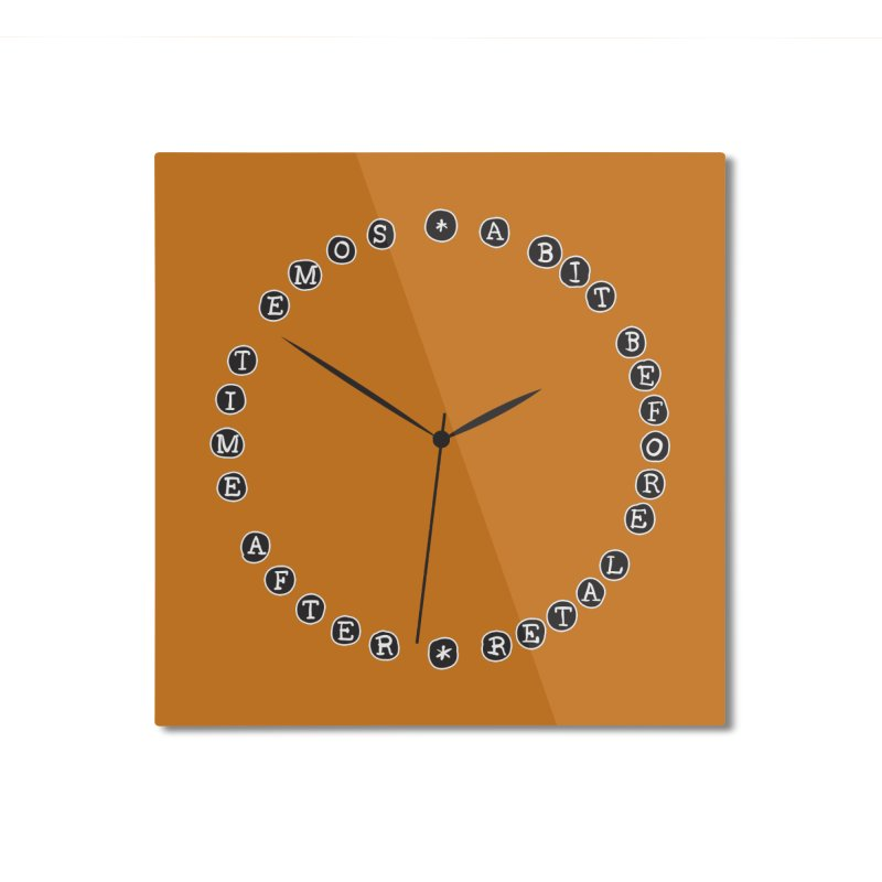 Do You Have The Time? Home Mounted Aluminum Print by Half Moon Giraffe