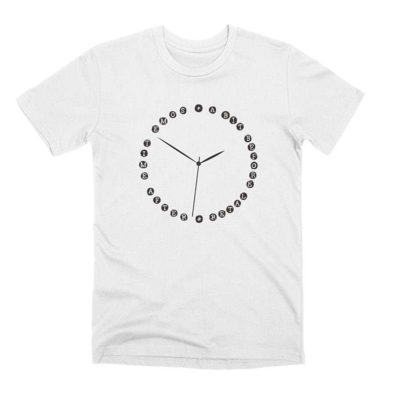 Do You Have The Time? Men's Premium T-Shirt by Half Moon Giraffe
