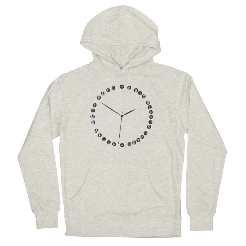 Do You Have The Time? Women's French Terry Pullover Hoody by Half Moon Giraffe