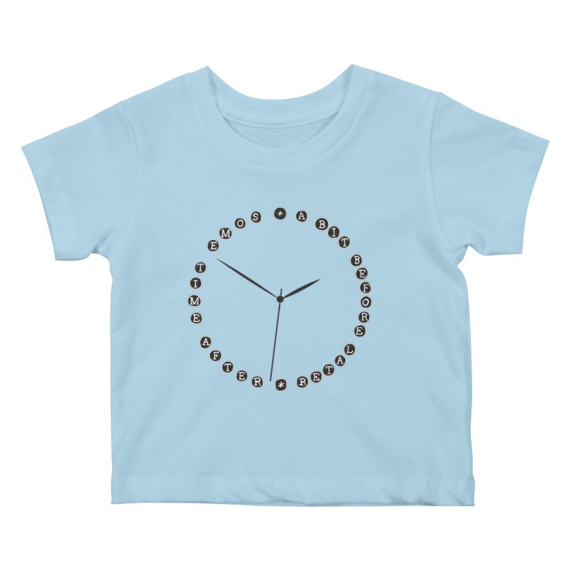 Do You Have The Time? Kids Baby T-Shirt by Half Moon Giraffe