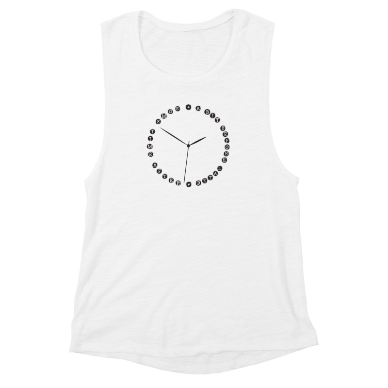 Do You Have The Time? Women's Muscle Tank by Half Moon Giraffe
