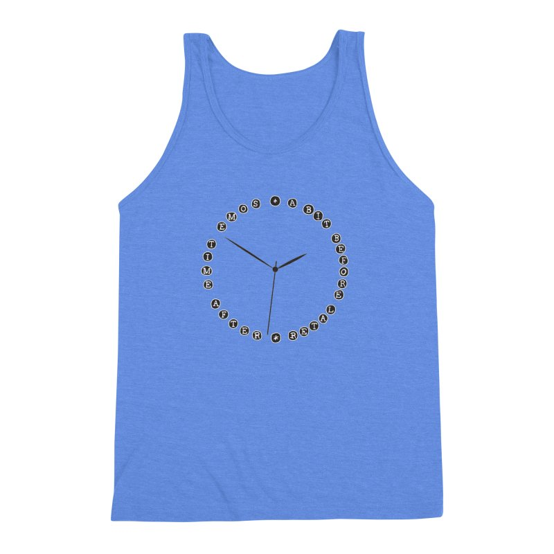 Do You Have The Time? Men's Triblend Tank by Half Moon Giraffe