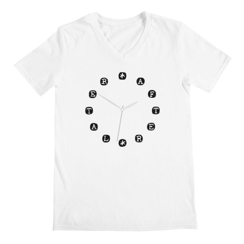 Do You Have The Time? Men's V-Neck by Half Moon Giraffe