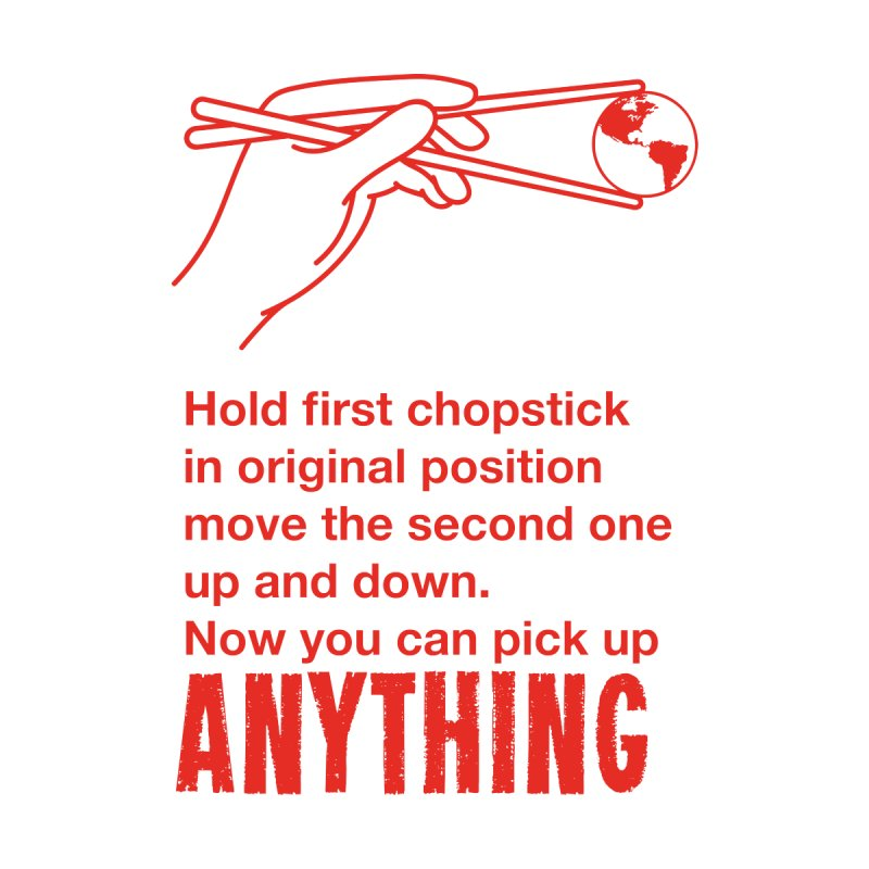 Chopsticks Pick Up ANYTHING Men's T-Shirt by Yaruki Zero Games Merch Store