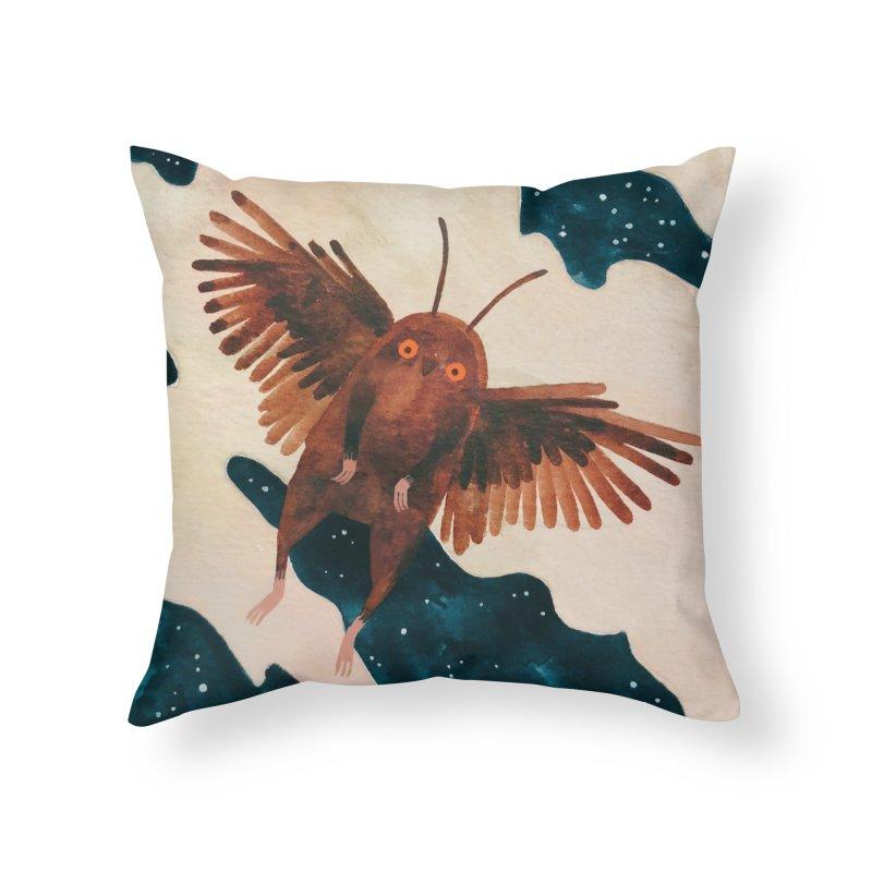 Mothman Home Throw Pillow by Yasmin Imamura