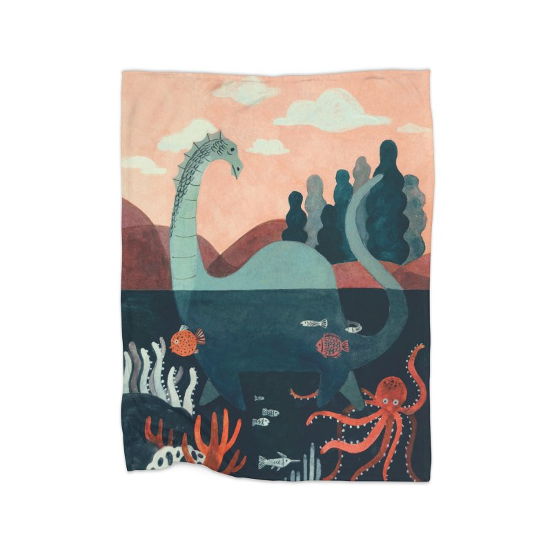 Lochness Home Fleece Blanket Blanket by Yasmin Imamura