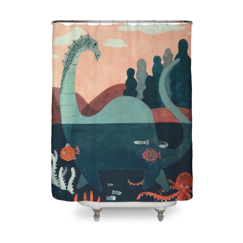 Lochness Home Shower Curtain by Yasmin Imamura