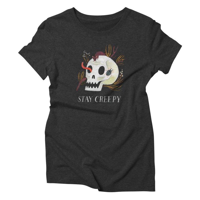Stay Creepy Women's T-Shirt by Yasmin Imamura