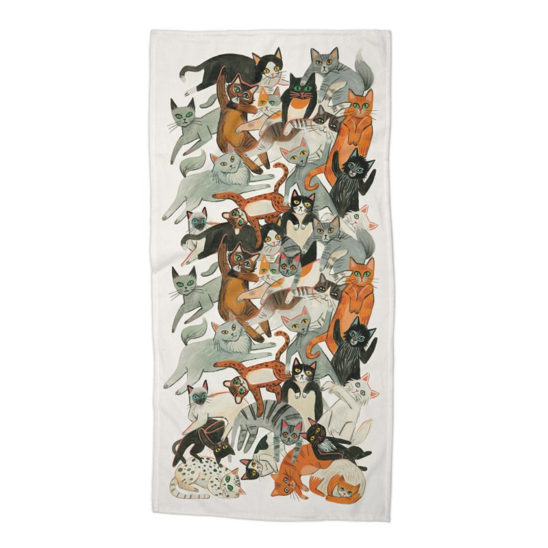 Cats Accessories Beach Towel by Yasmin Imamura