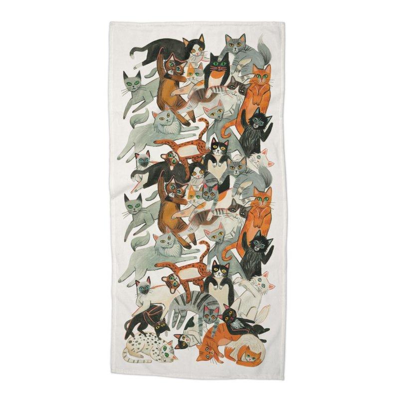 Cats Accessories Beach Towel by Yasmin Imamura