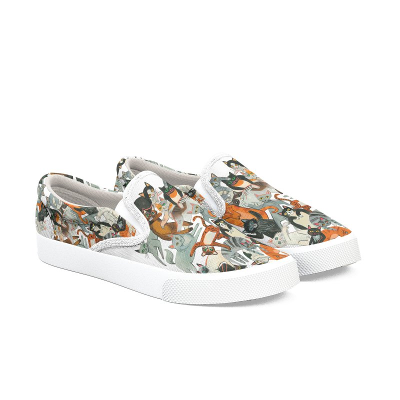 Cats Men's Slip-On Shoes by Yasmin Imamura