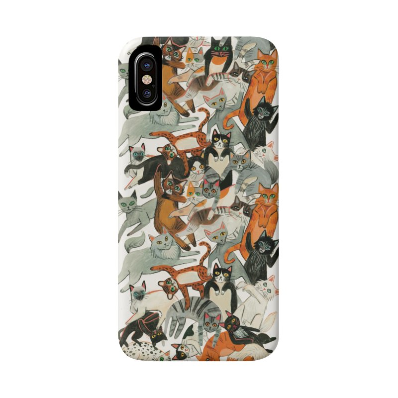 Cats Accessories Phone Case by Yasmin Imamura