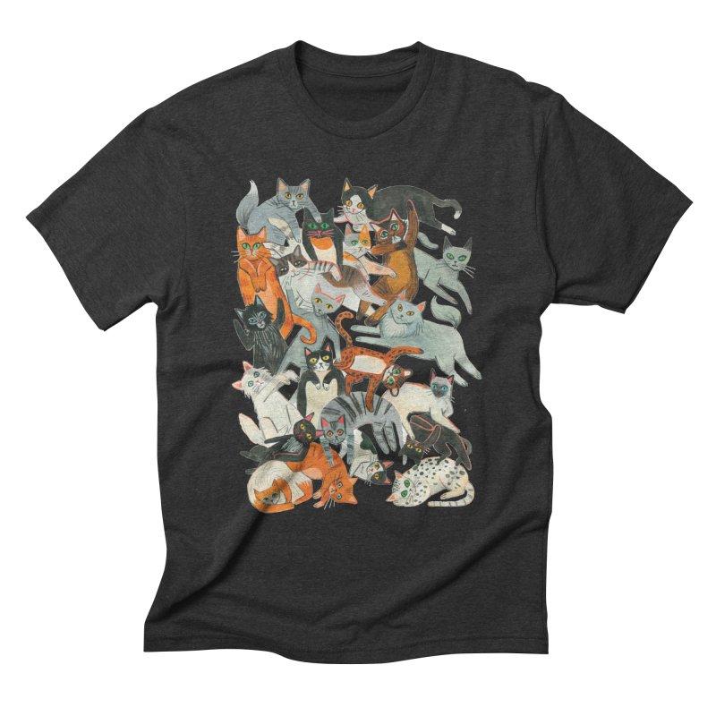 Cats Men's T-Shirt by Yasmin Imamura