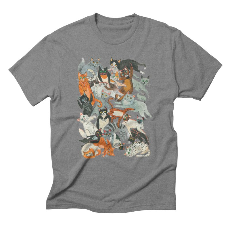 Cats Men's T-Shirt by Yasmin Imamura