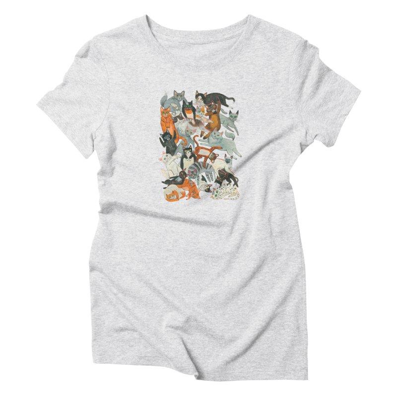 Cats Women's T-Shirt by Yasmin Imamura