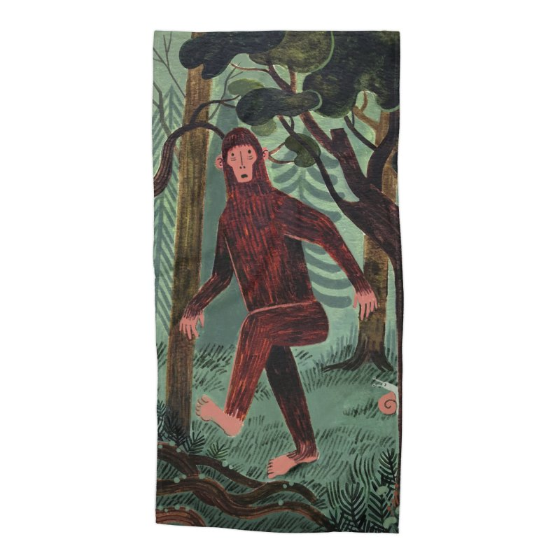 Bigfoot Accessories Beach Towel by Yasmin Imamura