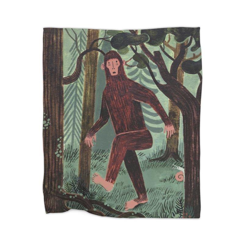 Bigfoot Home Blanket by Yasmin Imamura