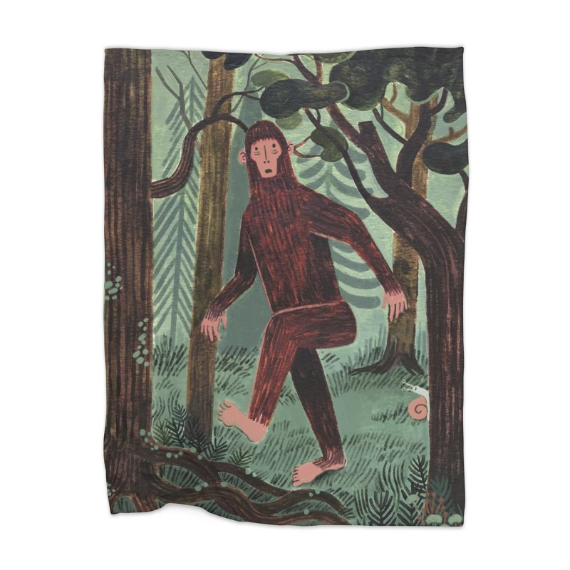 Bigfoot Home Blanket by Yasmin Imamura