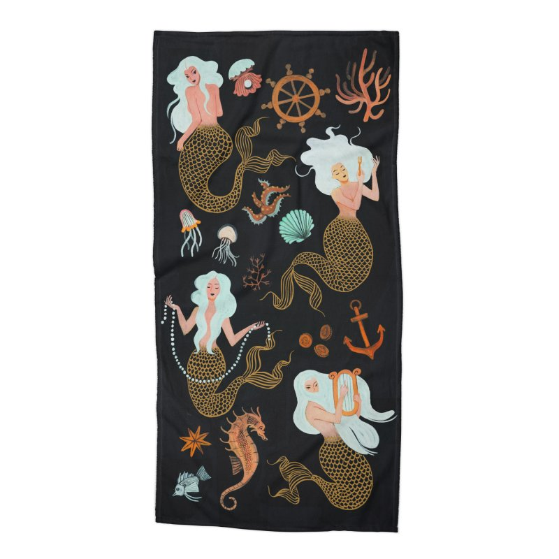 Sea Babes Accessories Beach Towel by Yasmin Imamura