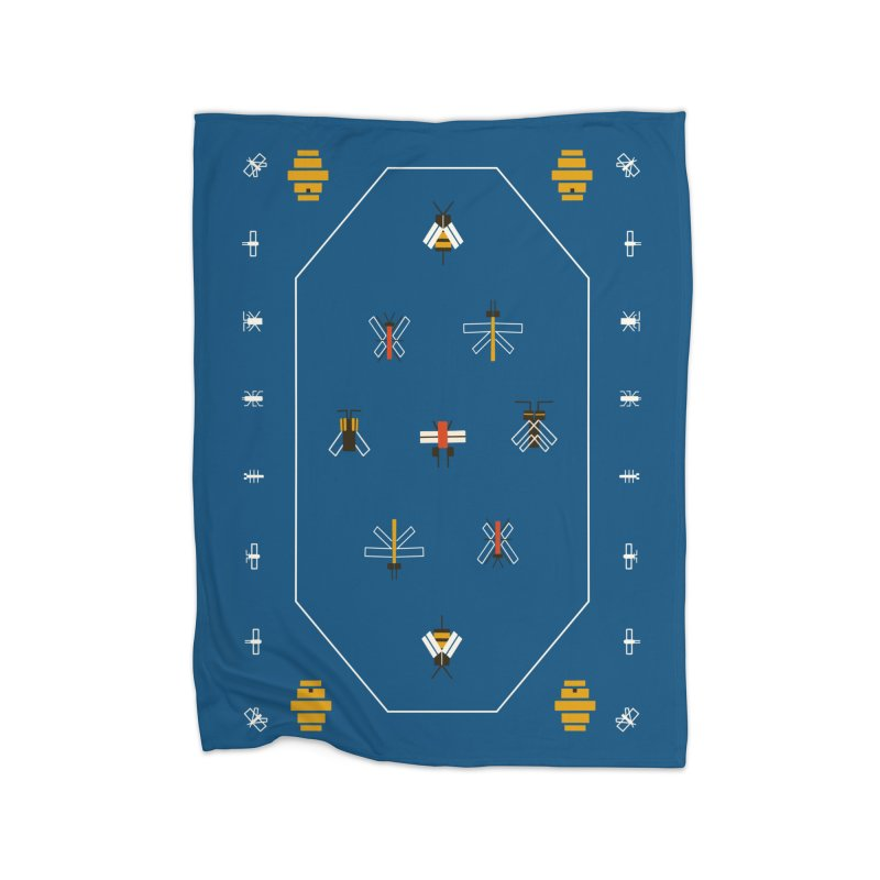 Bugs Home Fleece Blanket Blanket by Yasmin Imamura
